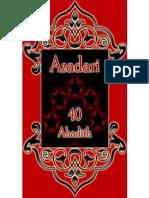 AZADARI - 40 Ahadith - Agha Jawad Muhaddathi & Shahnawaz Mahdavi - XKP