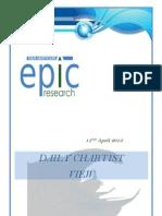 Special Report 15 April 2013