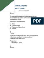 EVALUACIÓN DEL QUIZ 1  ACT 5CURSO DE ENTRENAMIENTO