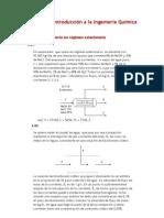 Problemas balance de materia Introducción a la Ingeniería Química