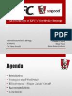 KFC - an evaluation of KFC's worldwide strategy