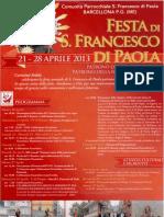 Festa di San Francesco Di Paola 2013