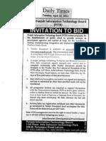 PITB Public Cloud Tender Doc 10042012v1.0