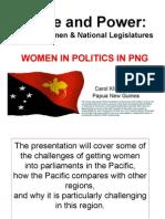 Women's voice and power in Papua New Guinea's legislature