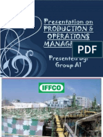 Production and Operations Management at IFFCO Kandla