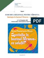 """FORUMUL REGIONALPENTRU NIRNOVA """"Sanitația în bazinul Nîrnova"""