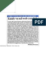 Eataly va sul web