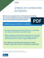 cambios cuenta express