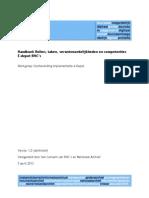WVI Handboek Rollen - Taken - Verantwoordelijkheden en Competenties