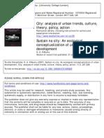O A K'Akumu (2007) sustain no city - an ecological conceptualization of urban development