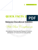 Malaysia Educational Statistics 2012 (Quick Facts)