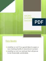 micro enterprise  management