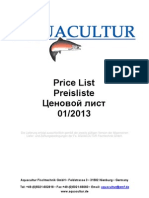01-2013 Aquacultur Retail Price List