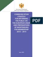 Montenegro, Komunikaciona Strategija ENG