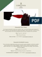 Garamvári Wine Dinner