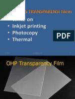 Jenis-jenis transparensi