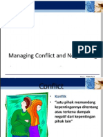 Po Managing Conflict and Negotiating