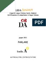 PLIDA prova d'ingresso J - Parlare livello A1