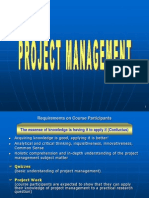 Project Management - Week 01