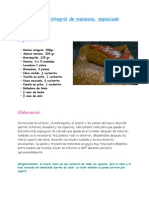 Bizcocho Integral de Manzana