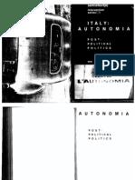 Autonomia - Post-Political Politics