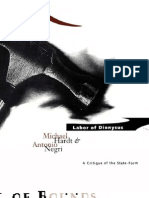 Michael Hardt and Antonio Negri - Labor of Dionysus