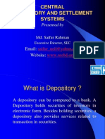 Depository and Settlement Systems
