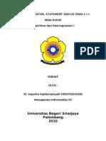 Tugas II Saputra (09070301030).doc
