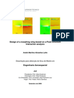 Design of a Morphing Wing Based on a Fluid Structural Interface Analysis