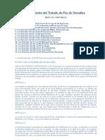 Documento Del Tratado de Paz de Versalles COMPLETO