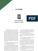 Heidegger, La Cosa