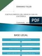 Presentacion ONSEC Fortalecimiento Servicio Civil Guatemala