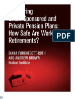Comparing Union Sponsored and Private Pension Plans
