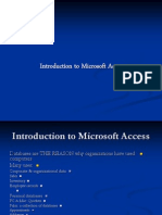 Intro MS Access