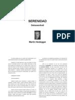 Heidegger, Serenidad