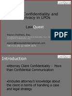 Client Confidentiality and Privacy in LPO's