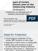 Impact of Certain International Laws on the Indian Outsourcing Industry