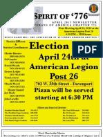 Vietnam Veterans of America Chapter 776 April 2013 Newsletter