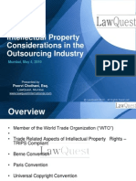 Intellectual Property Considerations in the Outsourcing Industry (May 4, 2010)