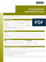 Physiotherapy Management Plan PDF
