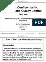 KPO - Confidentiality & Privacy