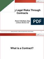 Mitigating Legal Risks Through Contracts
