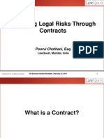 Mitigating Risks Through Contracts