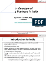 Overview of Doing Business in India - 2009