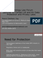 Technology Law Forum - US and EU Data Protection and Privacy Laws