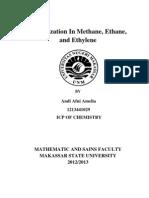 Hibridization in Methane (y) o3