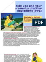 Pesticide Use and Your Personal Protective Equipment (PPE)