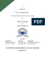 ACD Seminar report