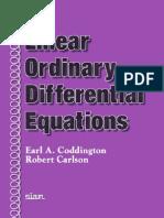 Coddington, E. Carlson, R. - Linear Ordinary Differential Equations(1)