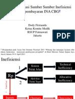 Mengidentifikasi Sumber Sumber Inefisiensi INA CBG